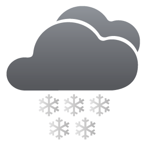 Partly cloudy, moderate or heavy snow